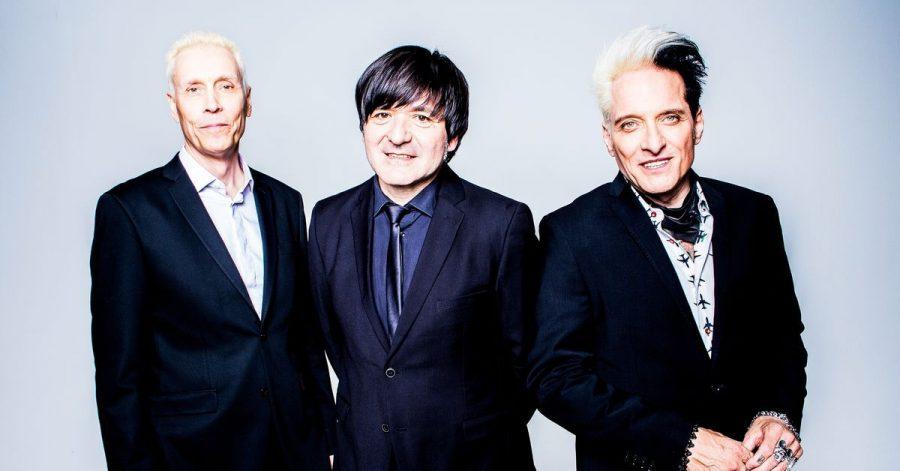 Die Mitglieder der Band Die Ärzte, Farin Urlaub (l-r), Rodrigo Gonzalez und Bela B.