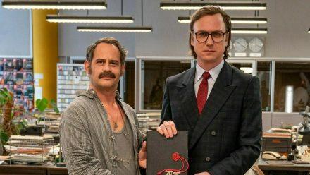 """Moritz Bleibtreu (li.) und Lars Eidinger spielen die Hauptrollen in """"Faking Hitler"""". (tae/spot)"""