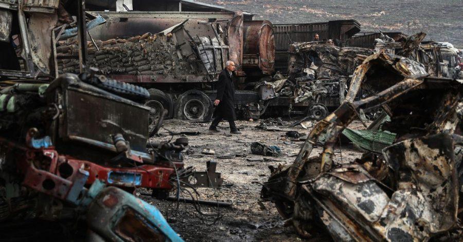 Zerstörung nach einem Luftangriff im syrischen Gebiet Idlib. (Symbolbild)