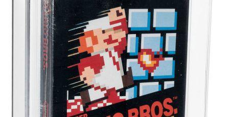 Ein original verpacktes «Super Mario Bros.»-Computerspiel aus dem Jahr 1985.
