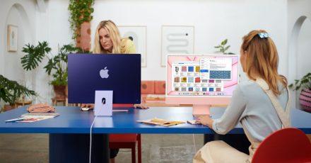 Farbenfrohe Arbeitsplätze: Die neuen iMacs bieten optisch Abwechslung.