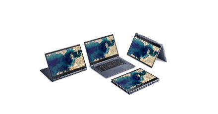 Notebook, Tablet, Standbildschirm, Zelt: Chromebooks wie das Thinkpad C13 Yoga Chromebook haben entsprechende Scharniere für mehr als einen Anwendungsfall.
