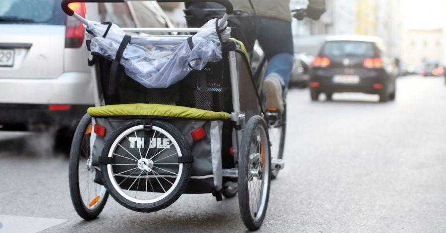 Stauraumerweiterung: Wer oft viel mit dem Fahrrad transportiert, freut sich über einen «Kofferraum» in Form eines Anhängers.