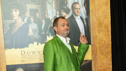 "Hugh Bonneville auf der Premiere des ersten ""Downton Abbey""-Films in New York. (wue/spot)"