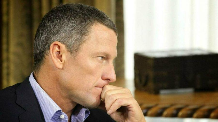 Lance Armstrong während eines Interviews. (spot)