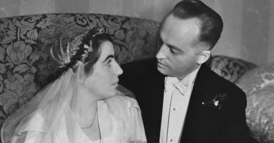 Ein Hochzeitsfoto von Erna und Helmut (undatierte Aufnahme von 1932).