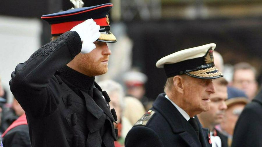 Prinz Harry (l.) und Prinz Philip im Jahr 2016 (wue/spot)