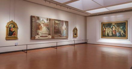 Die Uffizien sind voller Meisterwerke - hier das Gemälde «Primavera» von Botticelli (rechts).