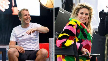 Oliver Pocher macht sich hier so richtig lustig über Heidi Klum