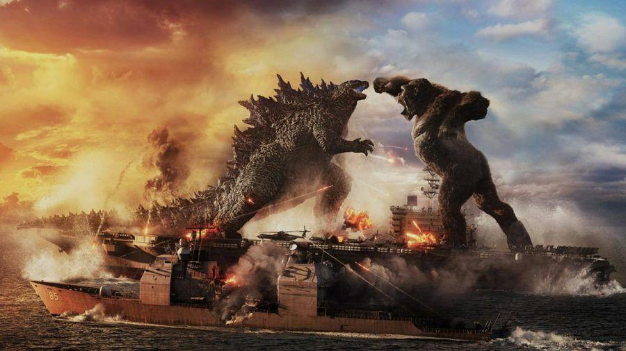 """In """"Godzilla vs. Kong"""" kämpfen zwei legendäre Kinomonster gegeneinander. (rto/spot)"""