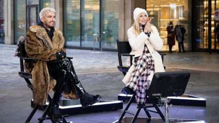 GNTM: Outfit-Wechsel mitten auf dem Catwalk in schwindelerregenden Höhen