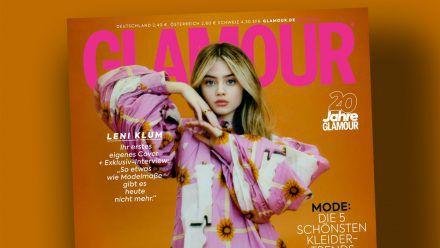 Glamour pur: Leni Klum erstmals als Solo-Covergirl