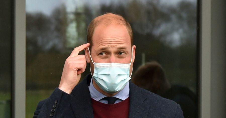 Der britische Prinz William bei seinem Besuchs im Aston Villa High Performance Centre.