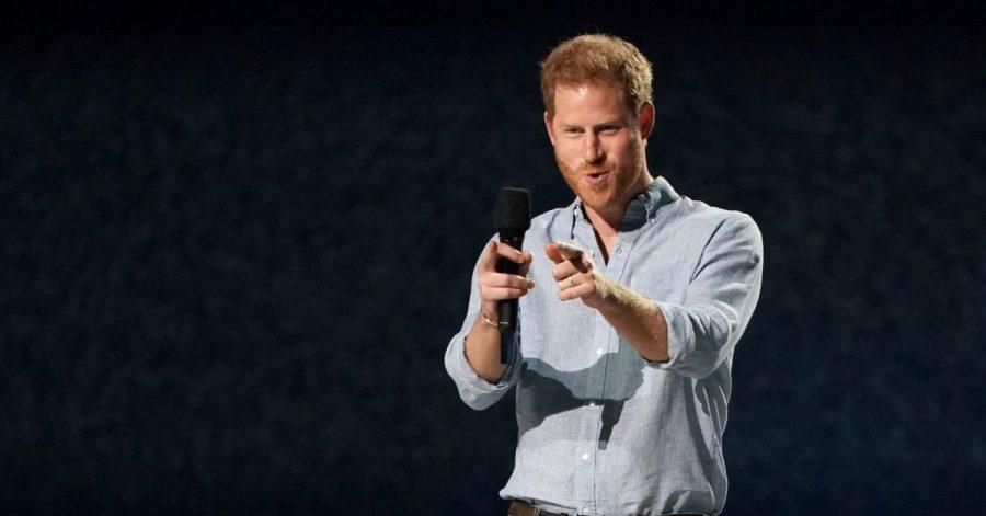 Prinz Harry beim Wohltätigkeitskonzert «Vax Live: The Concert to Reunite the World».