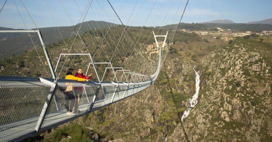 Nach Angaben des Geoparks und der Bürgermeisterin Aroucas ist «516 Arouca» die längste Fußgänger-Hängebrücke der Welt.
