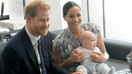 Prinz Harry und Herzogin Meghan mit Söhnchen Archie 2019 (rto/spot)