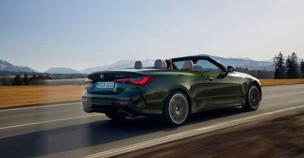 Ohne Störfaktor in der Optik:Im Gegensatz zum Hardtop verschwindet das Stoffverdeck des neuen BMW 4er Cabrio vollkommen hinter der Rückbank.