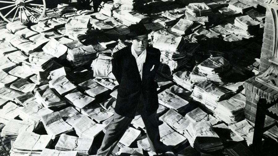 "Orson Welles als Zeitungsmogul Charles Foster Kane in ""Citizen Kane"" (stk/spot)"