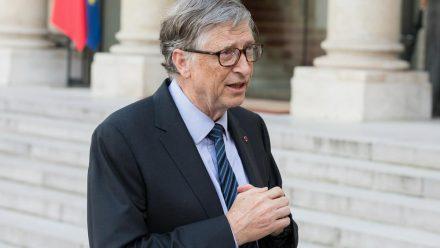 Bill Gates im Jahr 2018 in Frankreich (wue/spot)