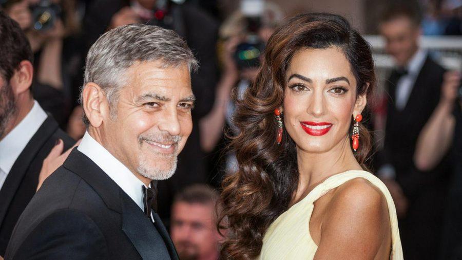 George Clooney an der Seite seiner zweiten Ehefrau Amal (stk/spot)