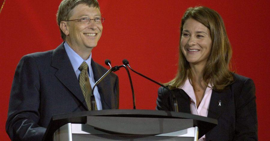Bill (l) und Melinda Gates geben die Scheidung bekannt.