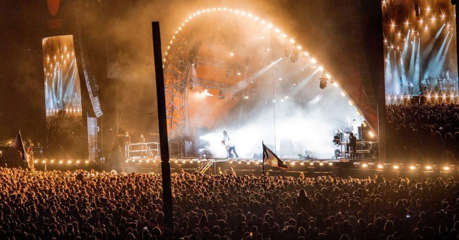 Menschenmassen beim Roskilde Festival 2018.