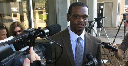 Henry McCollum 2014 in Raleigh nach seiner Entlassung aus dem Gefängnis.