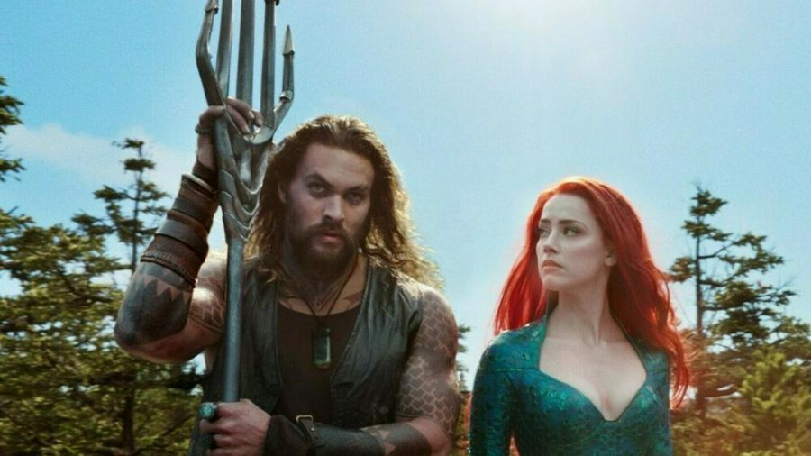 """Aquaman"": Aquaman (Jason Momoa) berät sich mit Mera (Amber Heard). (cg/spot)"