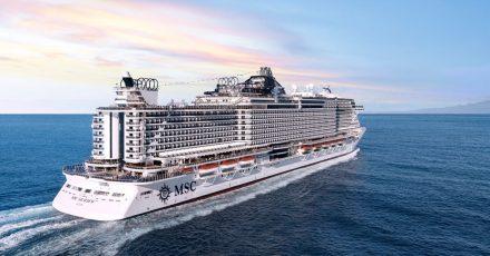 Die «MSC Seaview» soll ab Juli von Kiel aus zu Kreuzfahrten in der Ostsee aufbrechen.