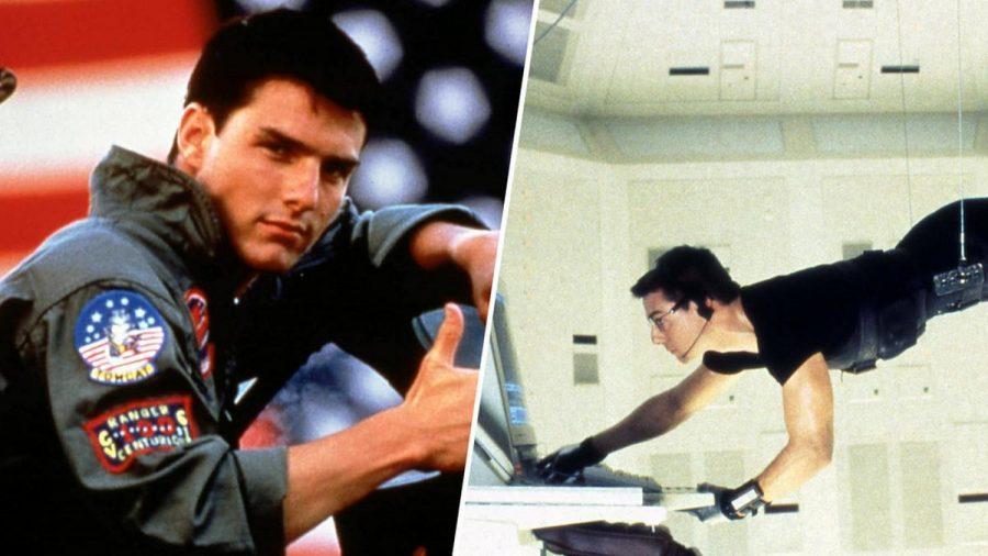 """In """"Top Gun"""" (l.) spielt Tom Cruise einen Kampfpilotenschüler, in """"Mission: Impossible"""" einen Geheimagenten. (wag/spot)"""