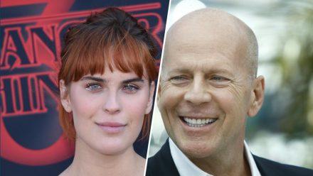 Tallulah Willis und ihr Vater Bruce Willis sehen sich ähnlich. (tae/spot)