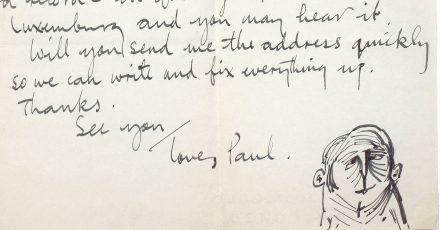 Die Seite eines Briefes aus dem Jahre 1963 von Paul McCartney an die Fotografin Astrid Kirchherr.