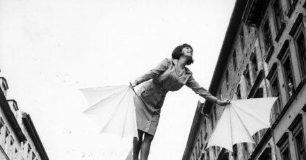 Melania Jakubiskova in einer Szene des Films «Fräulein Schmetterling» der DEFA, den das DDR-Regime vor erscheinen einstweilen verboten hat.