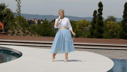 """Maite Kelly bei ihrem Auftritt im """"ZDF-Fernsehgarten"""". (jom/spot)"""