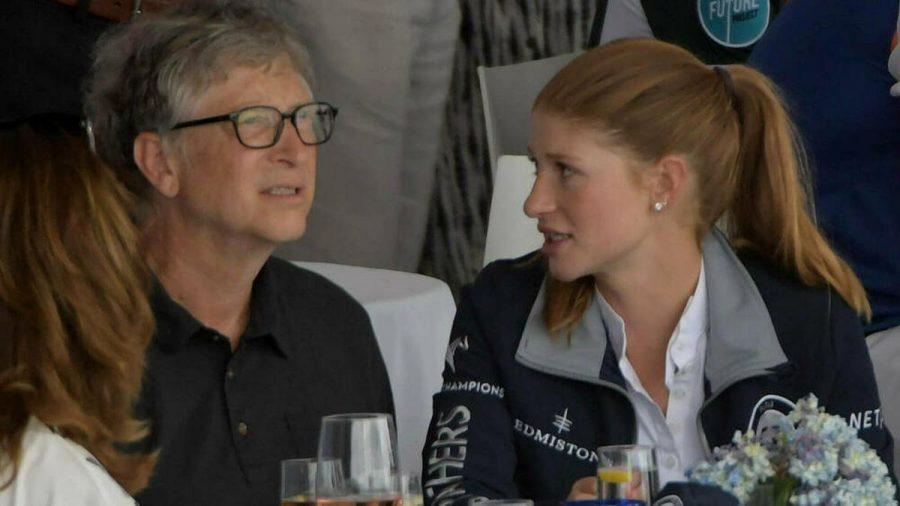 Jennifer Gates mit ihrem Vater Bill Gates bei einem Reitturnier im April 2019. (jom/spot)