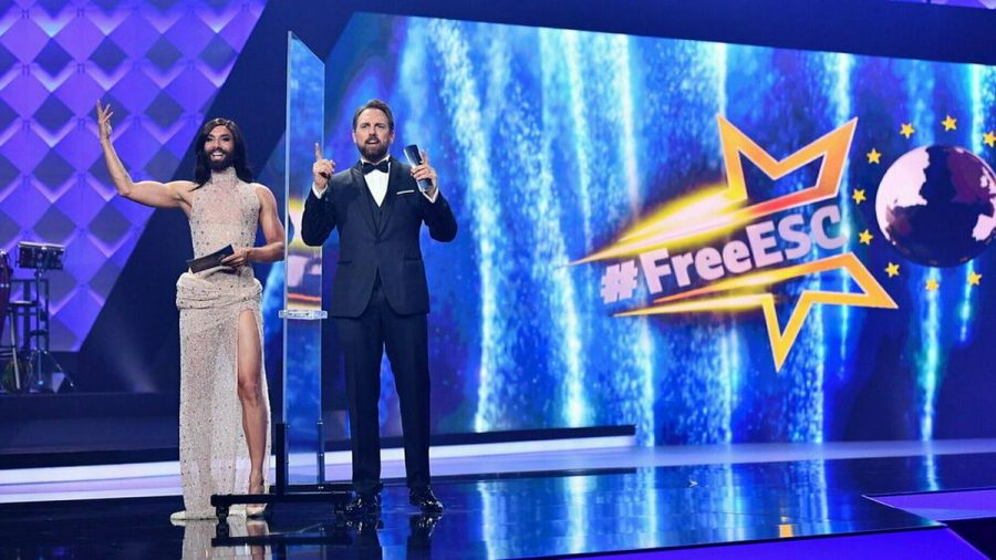"Conchita Wurst und Steven Gätjen moderieren auch 2021 den ""Free ESC"". (ncz/spot)"