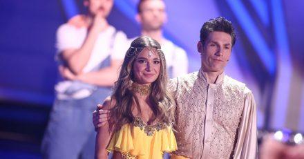Es hat nicht ganz gereicht: Lola Weippert und ihr Tanzpartner Christian Polanc sind enttäuscht.