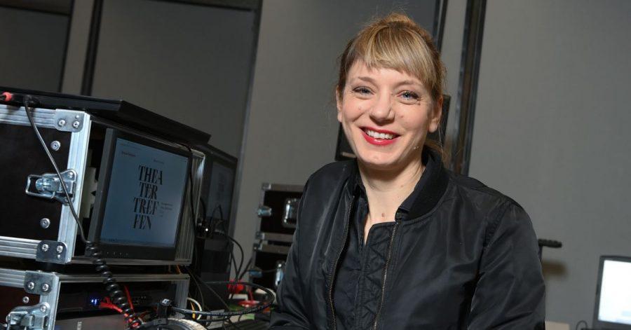 Yvonne Büdenhölzer, Leiterin des Theatertreffens, im Haus der Kulturen der Welt in Berlin.
