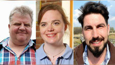 """Torsten, Lara und Mathias (v.l.n.r.) sind bei der neuen Staffel von """"Bauer sucht Frau"""" mit von der Partie. (dr/spot)"""