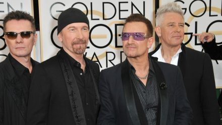U2 bei den Golden Globe Awards in Los Angeles (aha/spot)