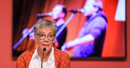 Karin Schmidt-Friderichs, die Vorsteherin des Börsenvereins des Deutschen Buchhandels, in Leipzig.