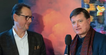 Chefdirigent Christian Thielemann (r), und Intendant Peter Theiler 2020 in Dresden.