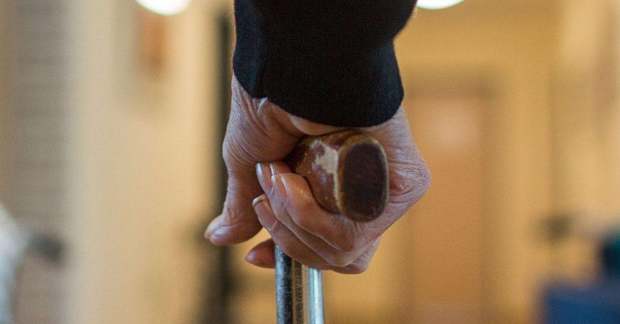 Ein Bewohner einer Wohngemeinschaft für Demenz-Kranke.