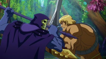 "Skeletor und He-Man kämpfen in der neuen Serie ""Masters of the Universe: Revelation"". (aha/spot)"