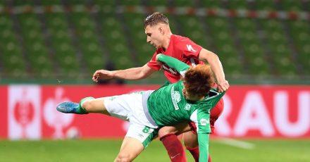 DFB-Pokal Halbfinale im Wohninvest Weserstadion in Bremen.