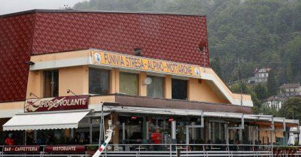 Die Abfahrtsstation der Seilbahn von Stresa nach Mottarone.