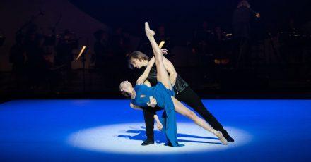Die Tänzer Anna Laudere und Edvin Revazov bei einer Fotoprobe des  ««Beethoven-Projekt II» von John Neumeier.