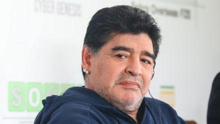 Diego Maradona bei einem Auftritt 2018 (hub/spot)