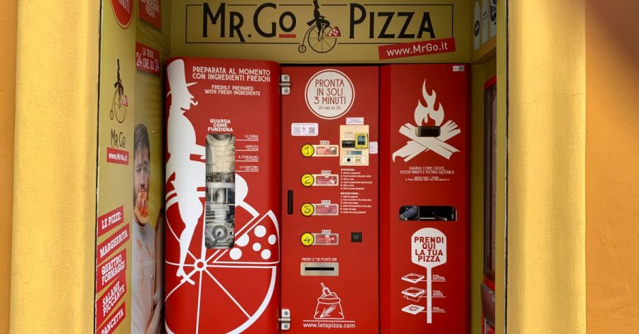 Der Pizza-Automat «Mr. Go» in Rom.