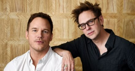 Chris Pratt (l) und James Gunn, Drehbuchautor und Regisseur von «Guardians of the Galaxy Vol. 2».